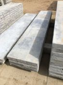 """(4) 18"""" x 8' Wall-Ties Aluminum Concrete Forms, Smooth 6-12 Hole Pattern. Located at 6180 W 10th St,"""