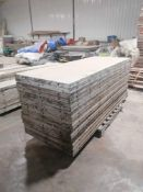 """(17) 36"""" x 8' Western Aluminum Concrete Forms, Smooth 6-12 Hole Pattern. Located at 119 Spruce"""