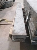 """(2) 5"""" x 4' Aluforms Aluminum Concrete Forms, Smooth 8"""" Hole Pattern. Located at 119 Spruce"""