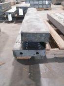 "(2) 8"" x 4' Jumps & (2) 6"" x 4' Jumps Aluforms Aluminum Concrete Forms, Smooth 8"" Hole Pattern."