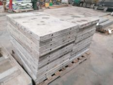 """(24) 36"""" x 2' Western Aluminum Concrete Forms, Smooth 6-12 Hole Pattern. Located at 119 Spruce"""