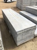 """(9) 24"""" x 8' Wall-Ties Aluminum Concrete Forms, Smooth 6-12 Hole Pattern. Located at 6180 W 10th St,"""