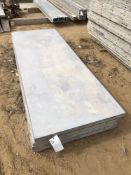"""(5) 36"""" x 8' Wall-Ties Aluminum Concrete Forms, Smooth 6-12 Hole Pattern, reconditioned by Wall-Ties"""