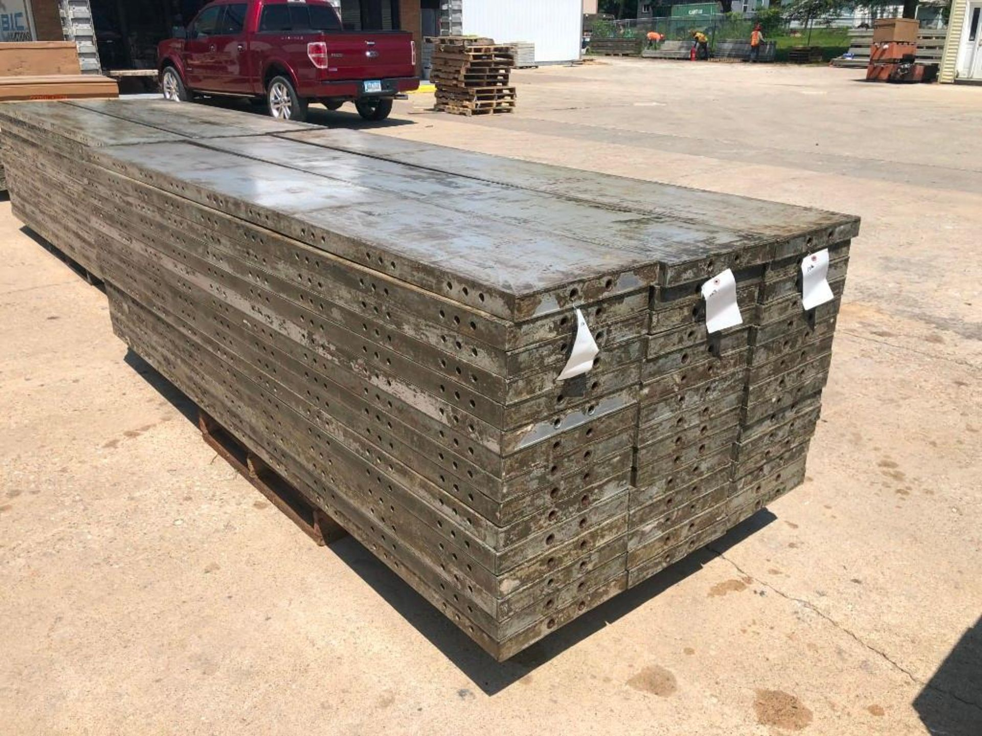 "Lot 159 - (15) 16"" x 9' Wall-Ties Aluminum Concrete Forms, CAP, Smooth 6-12 Hole Pattern. Located at 301 E"