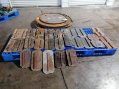 """(3) 48"""" & (1) 36"""" Power Trowel Pans & (39) Power Trowel Blades. Located at 301 E Henry Street, Mt."""