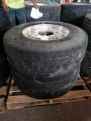 (2) Michelin 385/65R 22.5 SteerTires with Rims. Located at 301 E Henry Street, Mt. Pleasant, IA