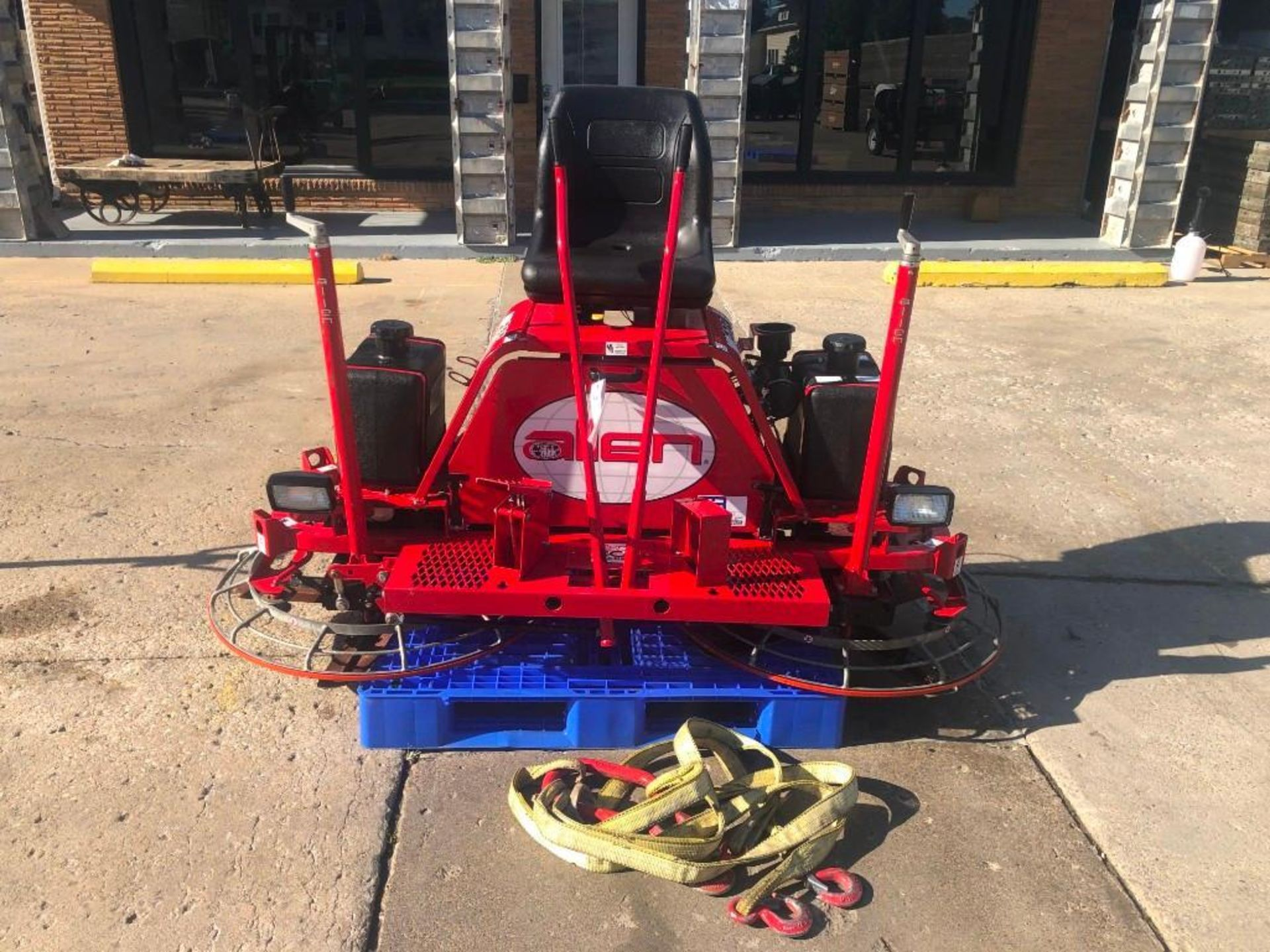 Allen MP235 Edger Riding Trowel, Serial #2350114005, 36.7 Hours, Model MP235. Located at 301 E Henry