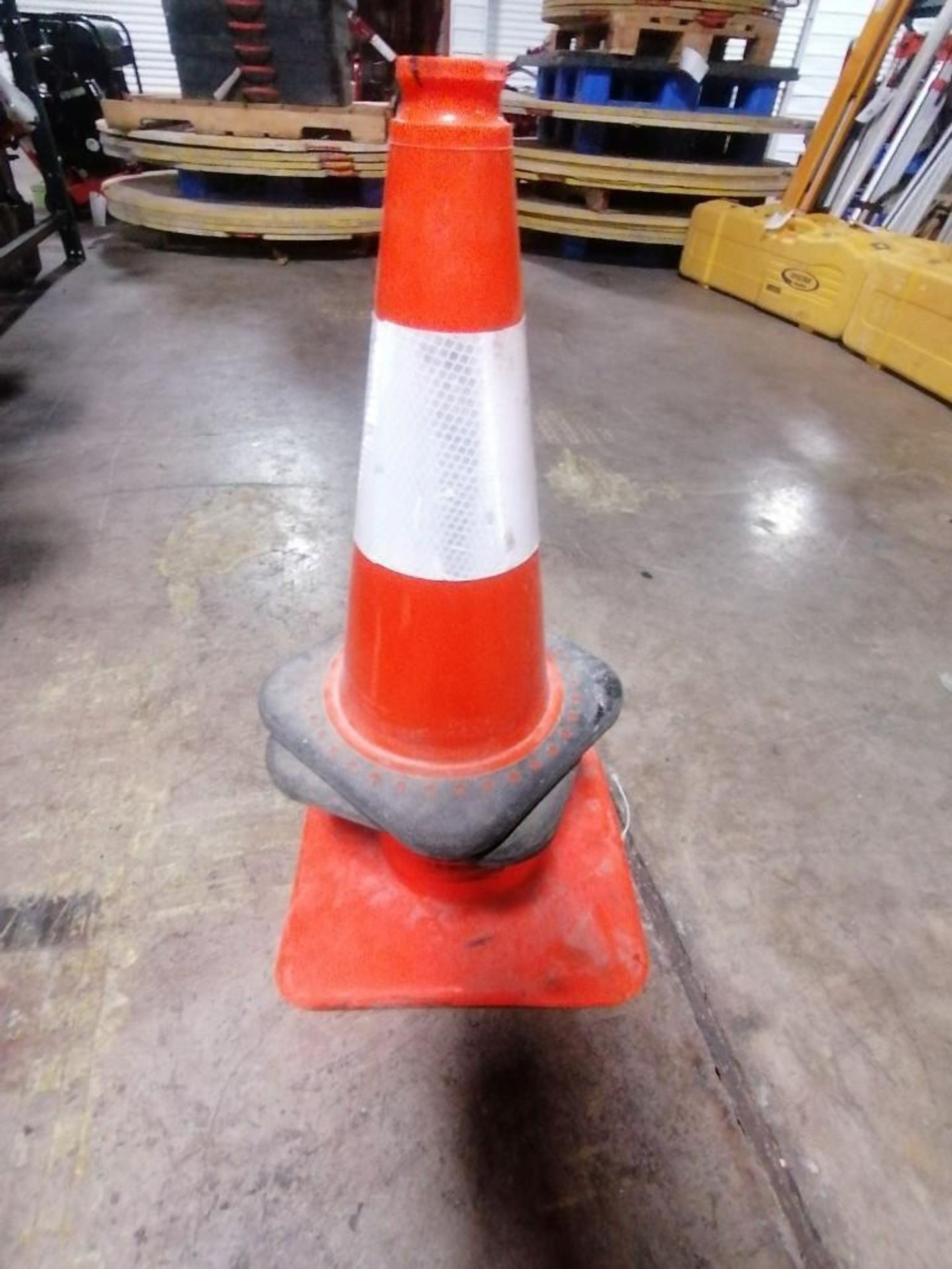 Lot 27 - (3) Fire Extinguisher & (3) Traffic Cones. Located at 301 E Henry Street, Mt. Pleasant, IA 52641.