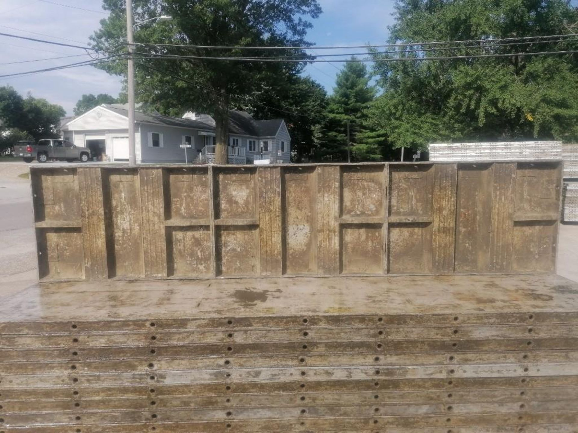 Lot 146 - (30) 2' x 9' Wall-Ties Aluminum Concrete Forms, Laydowns, Smooth 6-12 Hole Pattern. Located at 301 E