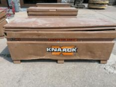 KNAACK Job Box Model 2472 with (57) Scaffolding Brackets. Located at 301 E Henry Street, Mt.