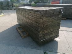 (20) 3' x 10' Wall-Ties Aluminum Concrete Forms, Smooth 6-12 Hole Pattern. Located at 301 E Henry
