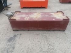"""25"""" W x 74"""" L x 21"""" H Transfer Fuel Tank with Pump. Located at 301 E Henry Street, Mt. Pleasant,"""