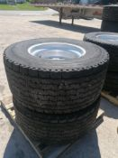 (2) Michelin 455/55R 22.5 Drive Tires with Rims. Located at 301 E Henry Street, Mt. Pleasant, IA