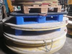 """(2) 6' x 1"""" Round Outrigger Pads. Located at 301 E Henry Street, Mt. Pleasant, IA 52641."""