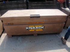 KNAACK Job Box Model 2472 with (54) Scaffolding brackets. Located at 301 E Henry Street, Mt.
