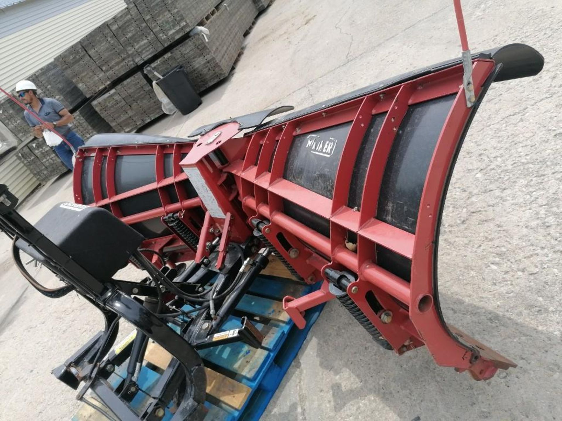 Lot 851 - HINIKER Snow Blade, NOT Mountingbrackets & Controls. Located at 301 E Henry Street, Mt. Pleasant,