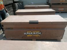 KNAACK Job Box Model 2472 with (55) Scaffolding Brackets. Located at 301 E Henry Street, Mt.
