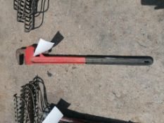 "(1) 36"" Straight Pipe Wrench. Located at 301 E Henry Street, Mt. Pleasant, IA 52641."