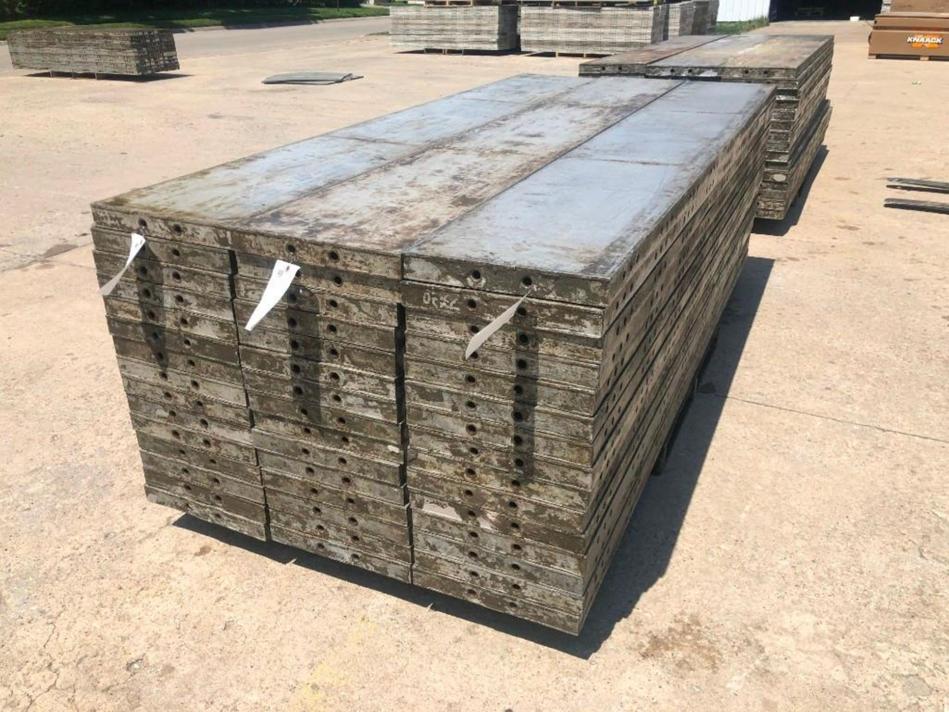 "Lot 162 - (15) 16"" x 9' Wall-Ties Aluminum Concrete Forms, CAP, Smooth 6-12 Hole Pattern. Located at 301 E"