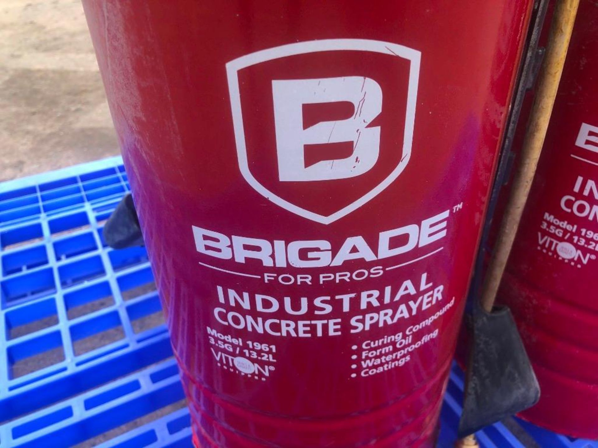 Lot 26 - (4) BRIGADE Industrial Concrete Sprayers. Located at 301 E Henry Street, Mt. Pleasant, IA 52641