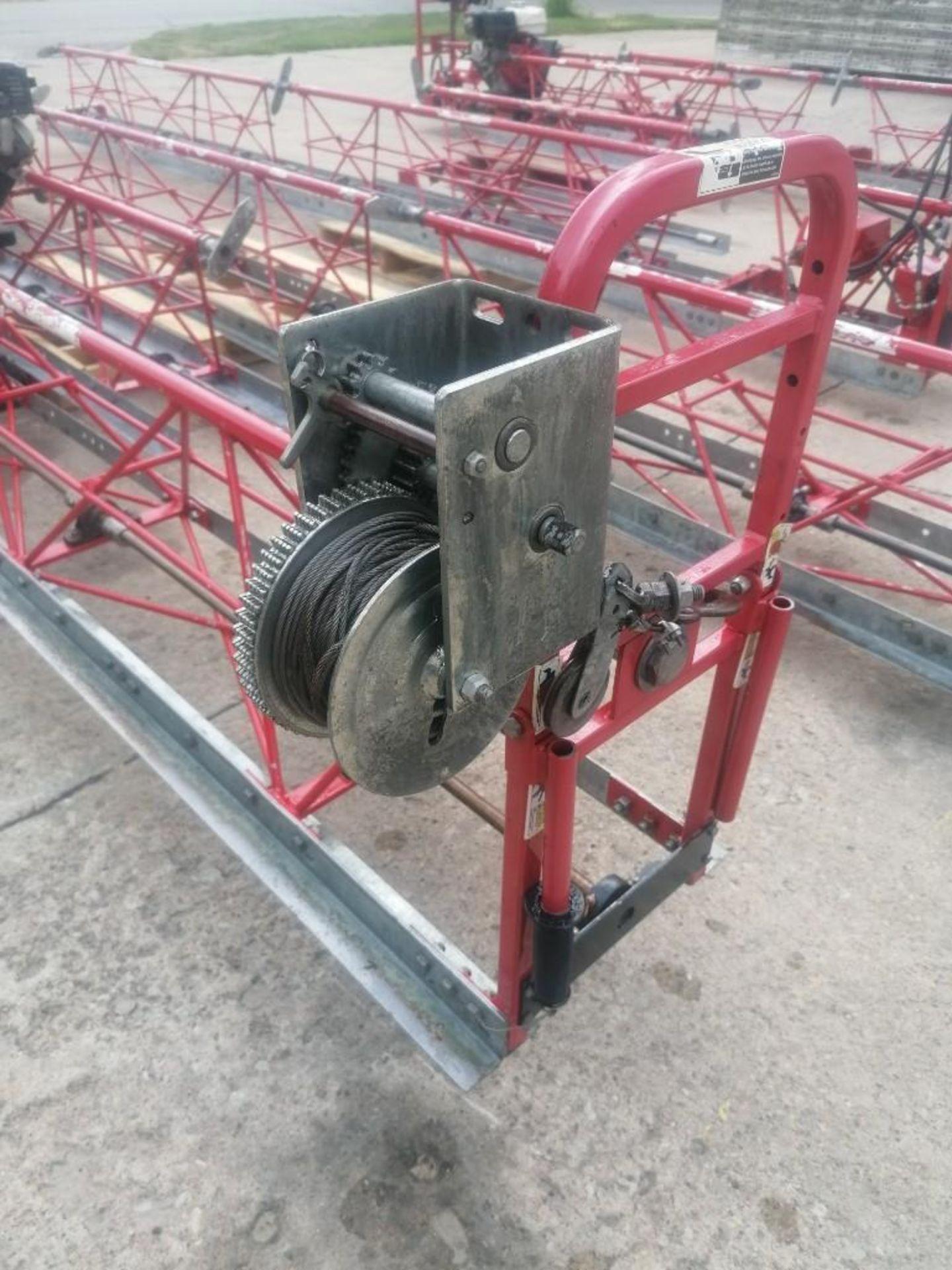 Lot 670 - 56' Allen Razorback Hydraulic Truss Screed with Honda GX270 Engine. Located at 301 E Henry Street,