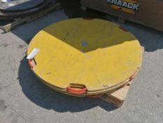 """(4) 4' x 1"""" Round Outrigger Pads. Located at 301 E Henry Street, Mt. Pleasant, IA 52641."""