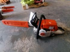 (1) Stihl MS291 Chainsaw. Located at 301 E Henry Street, Mt. Pleasant, IA 52641.