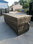 (18) 3' x 10' Wall-Ties Aluminum Concrete Forms, Smooth 6-12 Hole Pattern. Located at 301 E Henry