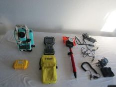 Nikon DTM322+ Total Station Laser, Model DTM-322+, Serial # D320306 with Attachments. Located at 301