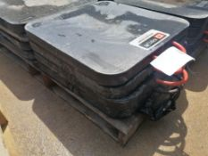 """(4) 2' x 2' x 2"""" Outrigger Pads. Located at 301 E Henry Street, Mt. Pleasant, IA 52641."""