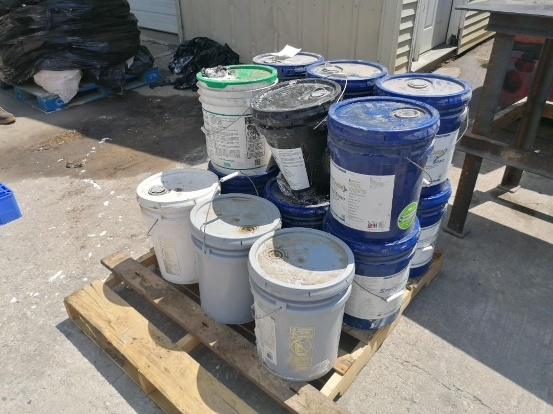 Lot 743 - (15) 5 GAL Buckets of Strong Bond Acrylic Bonding and Admixture. Located at 301 E Henry Street,