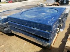 """(4) 22"""" x 22"""" x 2"""" Outrigger Pads. Located at 301 E Henry Street, Mt. Pleasant, IA 52641."""
