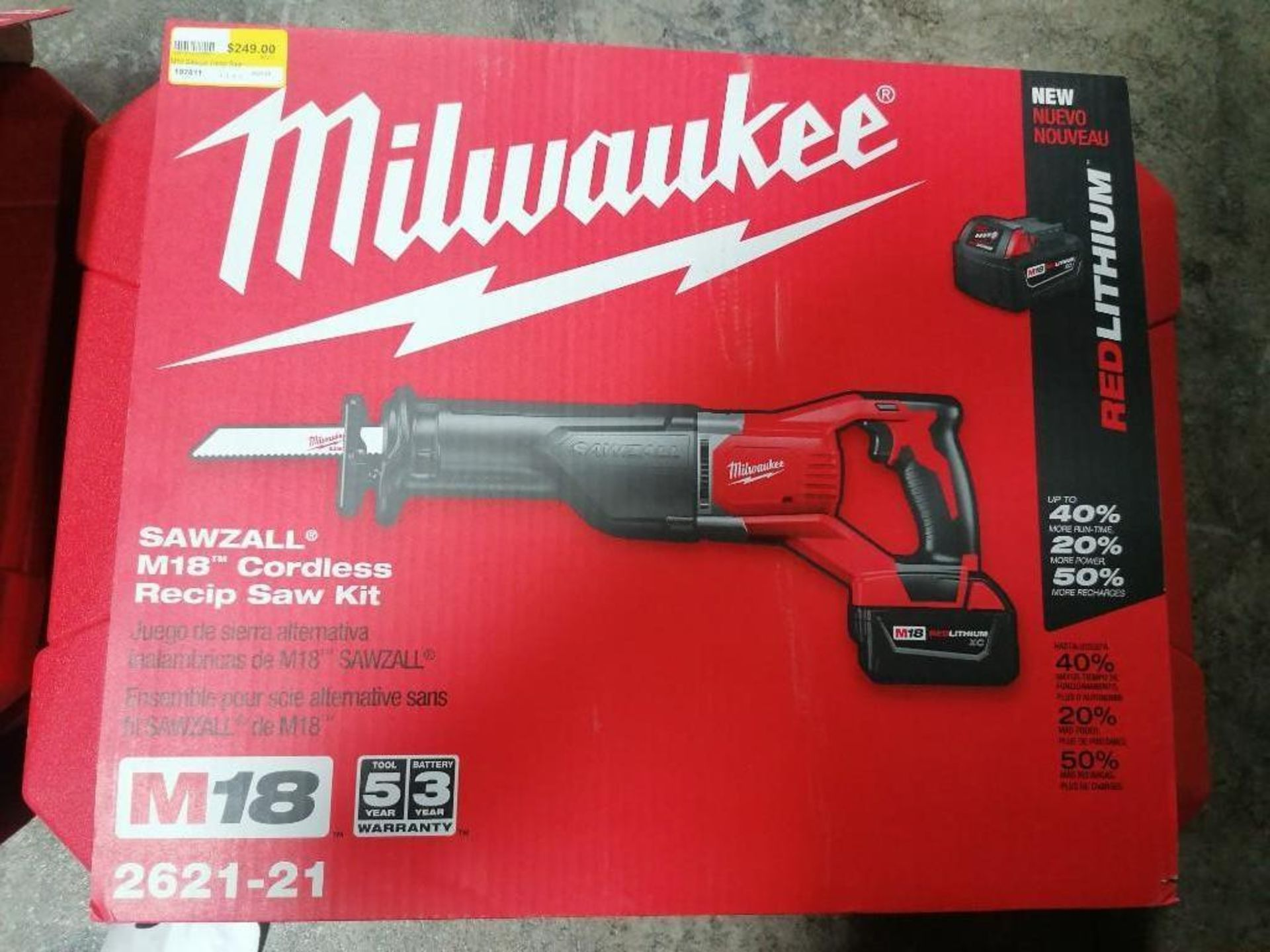 "(1) NEW Milwaukee M18 1/2"" Compact Drill Kit & (1) NEW Milwaukee M18 Cordless Recip Saw Kit. Located - Image 2 of 3"