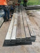 "(38) 5 1/2 "" x 1 1/2"" x 16' Aluminum Waler Boards. Located at 301 E Henry Street, Mt. Pleasant, IA"