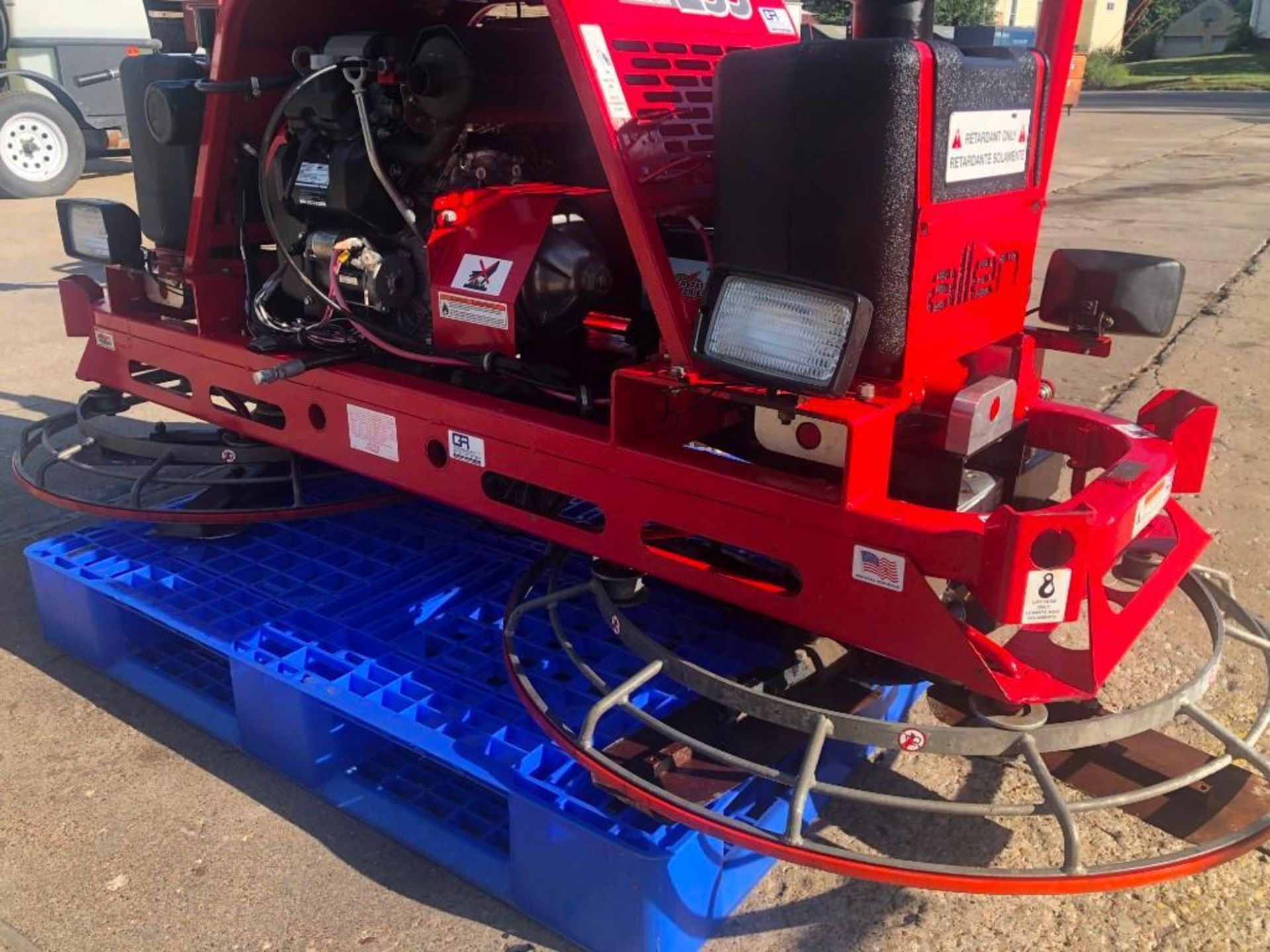 Allen MP235 Edger Riding Trowel, Serial #2350114005, 36.7 Hours, Model MP235. Located at 301 E Henry - Image 2 of 10