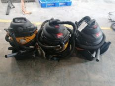 (2) SHOPVAC 16 Gal & (1) SHOPVAC 12 Gal. Located at 301 E Henry Street, Mt. Pleasant, IA 52641.