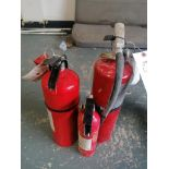 (3) Fire Extinguisher & (3) Traffic Cones. Located at 301 E Henry Street, Mt. Pleasant, IA 52641.