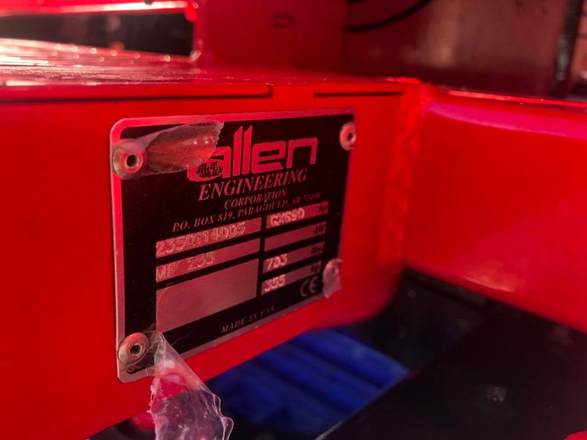 Allen MP235 Edger Riding Trowel, Serial #2350114005, 36.7 Hours, Model MP235. Located at 301 E Henry - Image 9 of 10