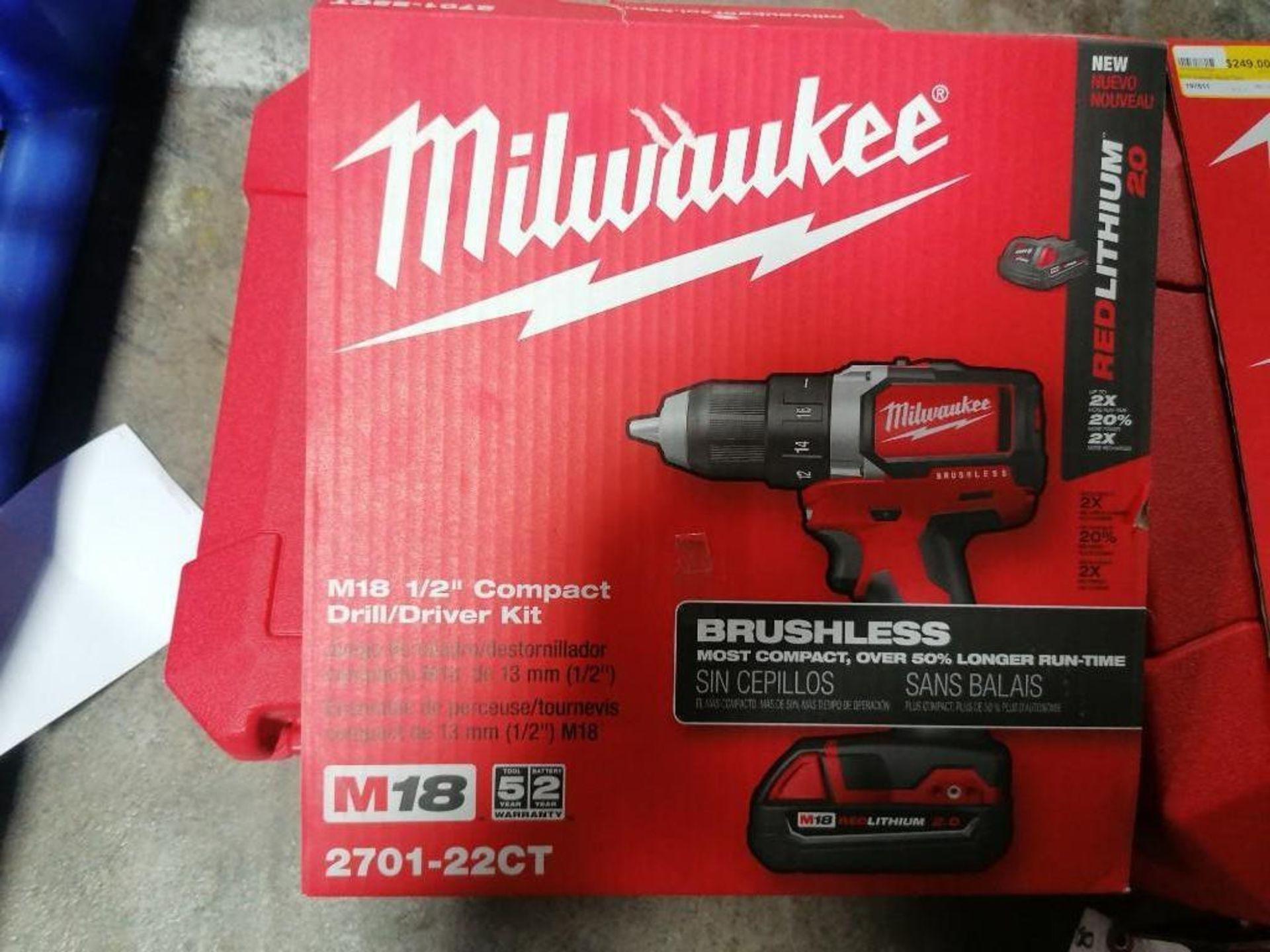 "(1) NEW Milwaukee M18 1/2"" Compact Drill Kit & (1) NEW Milwaukee M18 Cordless Recip Saw Kit. Located - Image 3 of 3"