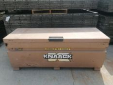 KNAACK Job Box Model 2472 with (58) Scaffolding brackets. Located at 301 E Henry Street, Mt.