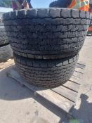 (2) Michelin 455/55R 22.5 DriveTires with Rims. Located at 301 E Henry Street, Mt. Pleasant, IA