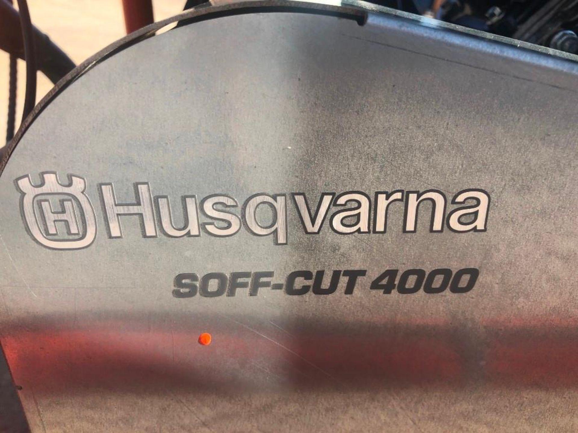 Lot 109 - Husqvarna 20HP X4000 Soff Cut Saw with Vac Port, 4 Hours, Model Soff-Cut 4000, Kohler Command Pro