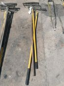 (3) Bow Rakes. Located at 301 E Henry Street, Mt. Pleasant, IA 52641.