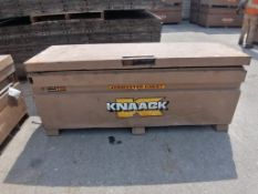KNAACK Job Box Model 2472 with (48) Scaffolding brackets. Located at 301 E Henry Street, Mt.