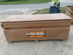 KNAACK Job Box Model 2472 with (60) Scaffolding brackets. Located at 301 E Henry Street, Mt.