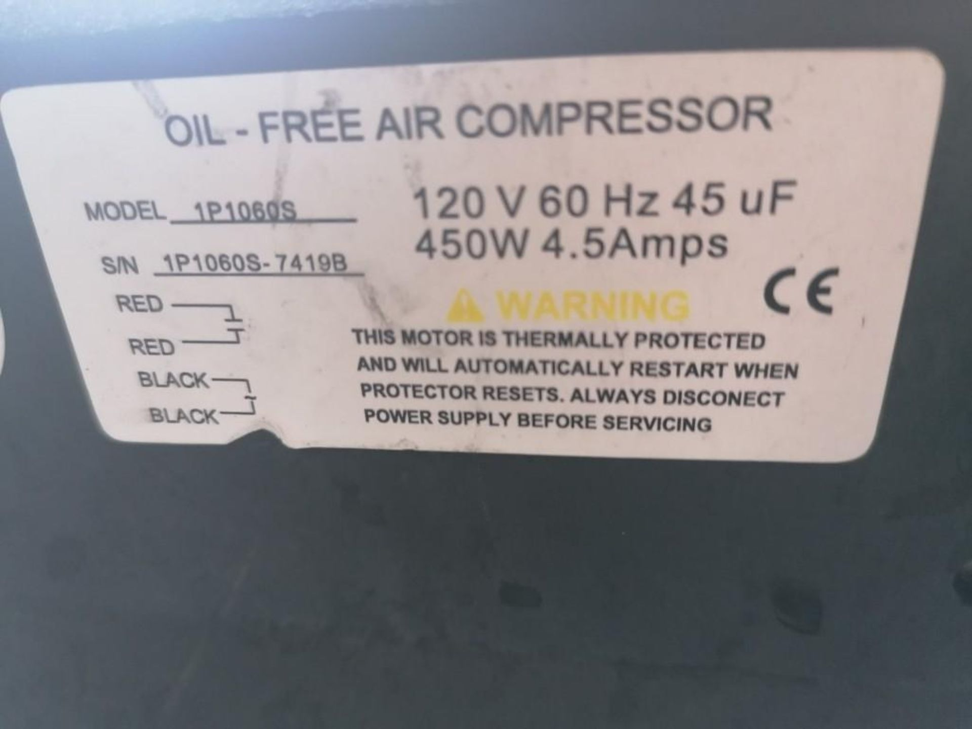 (1) California Air Tools Air Compressor, Model 1P1060S. Located at 301 E Henry Street, Mt. Pleasant, - Image 3 of 3
