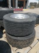 (2) Michelin 445/ 50R 22.5 Drive Tires with Rims. Located at 301 E Henry Street, Mt. Pleasant, IA