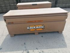 KNAACK Job Box Model 2472 with (56) Scaffolding Brackets. Located at 301 E Henry Street, Mt.