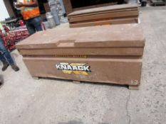 KNAACK Job Box Model 2472 with (51) Scaffolding brackets. Located at 301 E Henry Street, Mt.
