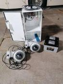 (2) EarthCam P.O.E Camera System Solar Power with 16' Aluminum Mauning Pole.Model Construction